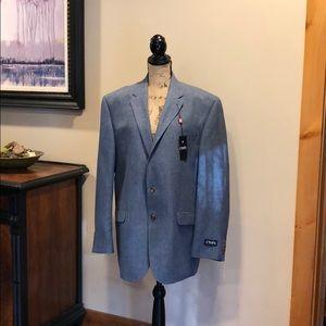 Men's Chaps Blue Denim Style Blazer - Size 46 Reg